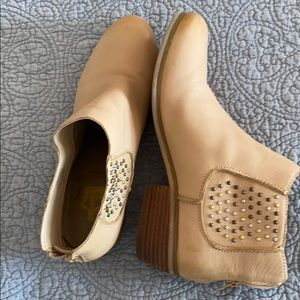 Tan Crown Vintage Ankle Boots Size 7 1/2Zm